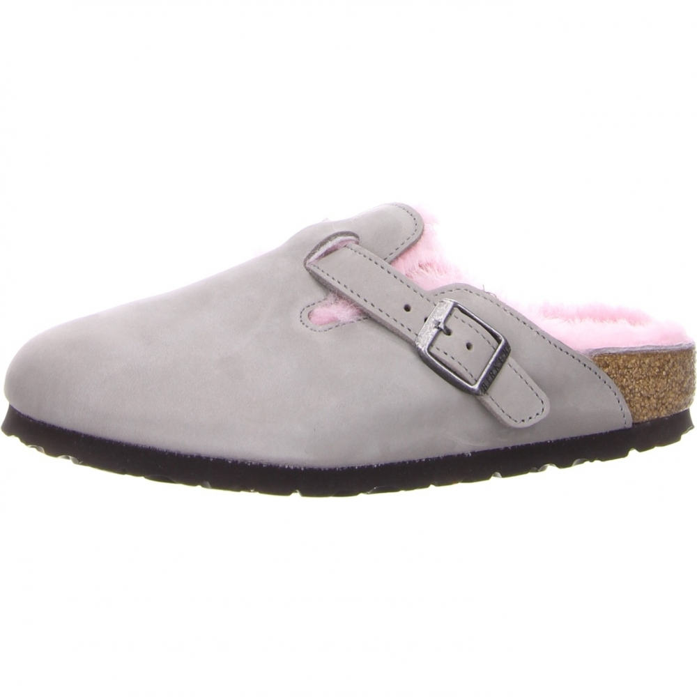 birkenstock boston grau leder