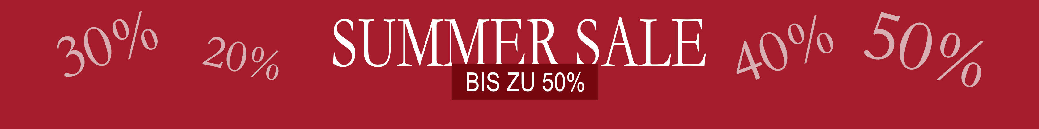 Summer Sale bis 50%