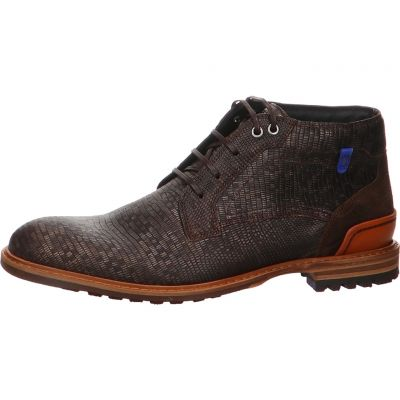 Floris van Bommel - Stiefelette - Floris Casual DarkBrown Lizard