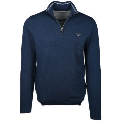 Gant - Strick Troyer - COTTON PIQUE HALF ZIP