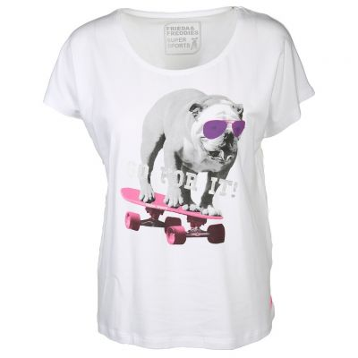 Frieda & Freddies - Shirt mit Mops Print