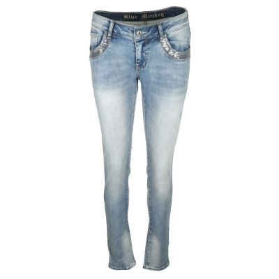 Blue Monkey - Jeans im Used Look - Honey