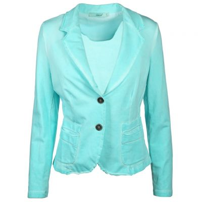 iSilk - Blazer in Aqua