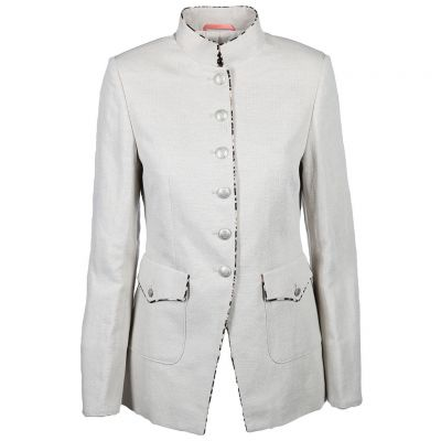 White Label - Long Blazer mit Stehkragen