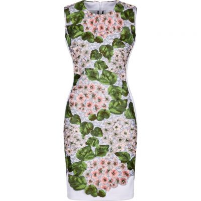 Sportalm - Kleid mit floralen Stichings