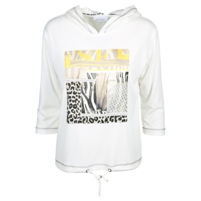 Just White - Sweatshirt mit coolem Frontprint