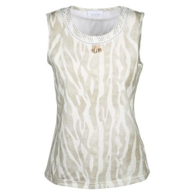 Just White - Top im Zebra Look