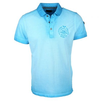PME Legend - Poloshirt in Washed-out-Optik