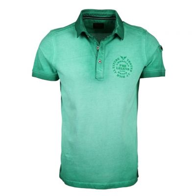 PME Legend - Poloshirt in Washed-Out Optik