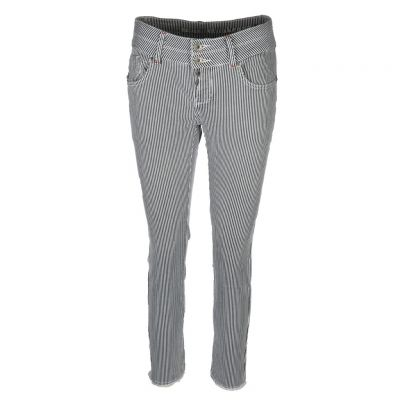 Blue Monkey - Gestreifte Skinny Jeans - Mary