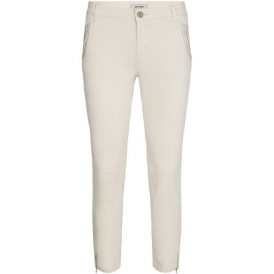 Mos Mosh - Jeans mit Stickerei - Etta Zip Cream