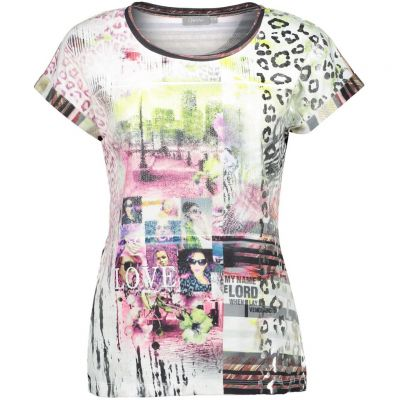 Geisha - Shirt mit Metallic Prints