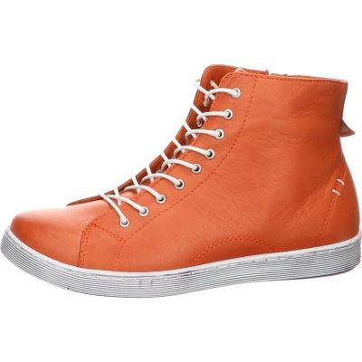 Andrea Conti - High Sneaker in Orange