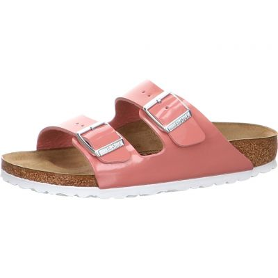 Birkenstock - Pantolette in Lack-Optik - Arizona BF Patent Old Rose