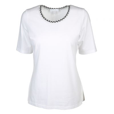 Just White - Edel verziertes Shirt