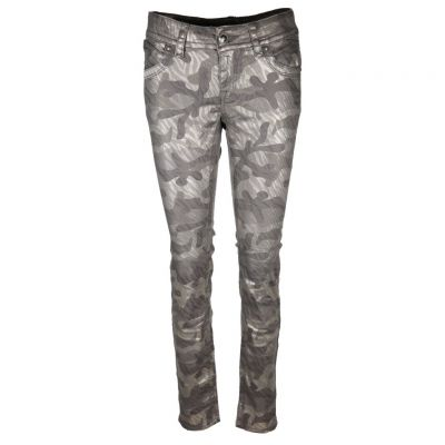 Blue Monkey - Jeans im Camouflage Look - Laura