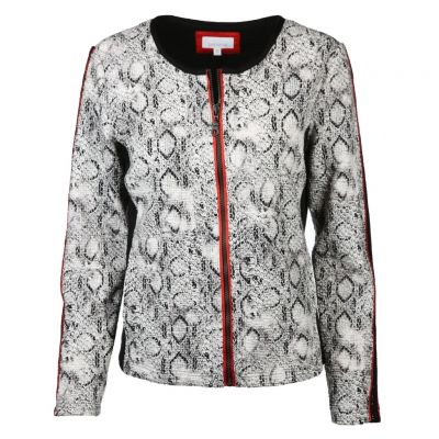 Just White - Jacke mit Snake Muster