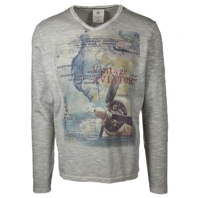 Kitaro Men - Shirt mit Flieger Print