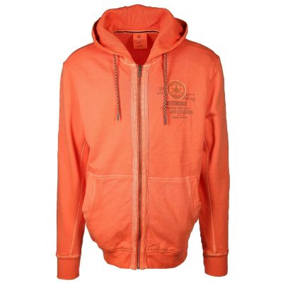 Kitaro Men - Sweatjacke in Neonorange