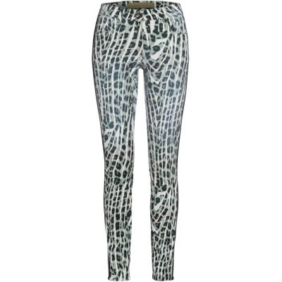 Marc Aurel - Jeans mit Animalprint
