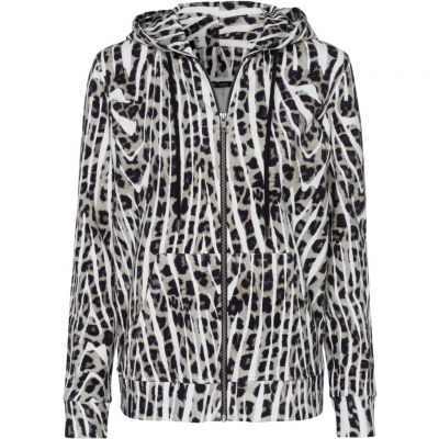 Marc Aurel - Sweatjacke mit Animal Print