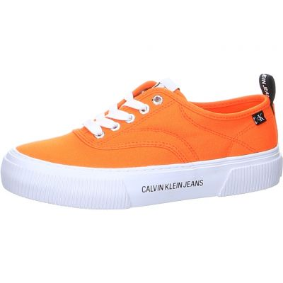 Calvin Klein - Plateausneaker in Orange