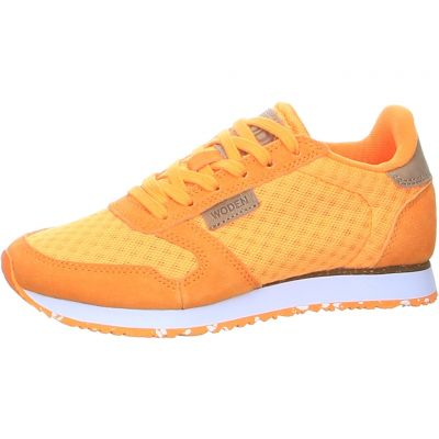 Woden - Sneaker in Orange - Ydun Suede Mesh