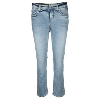 Cambio - Jeans mit Stickerei - Tess straight short