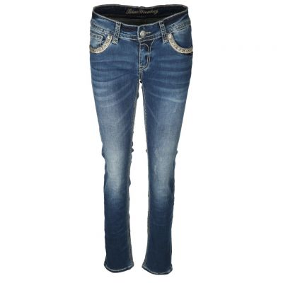 Blue Monkey - Jeans mit Stickereien - Luna