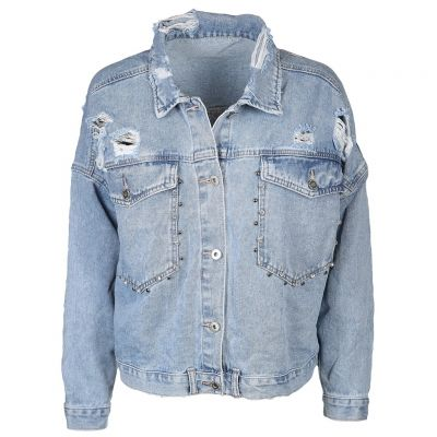 Sempre Moda - Jeansjacke im Destroyed Look