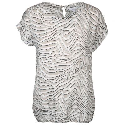 Just White - Shirt mit Zebra Print