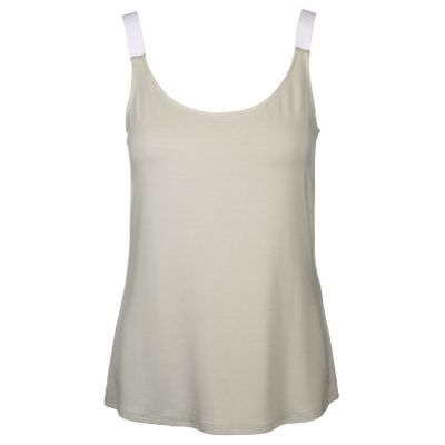 Just White - Top in Khaki