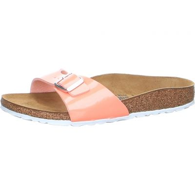 Birkenstock - Pantolette in Koralle - Madrid BF Patent Coral Peach