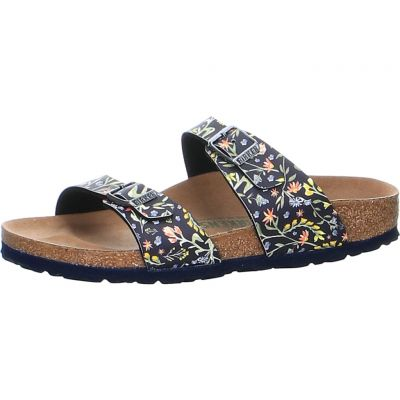 Birkenstock - Pantolette mit Watercolor Print - Sydney BF Watercolor Flower VE