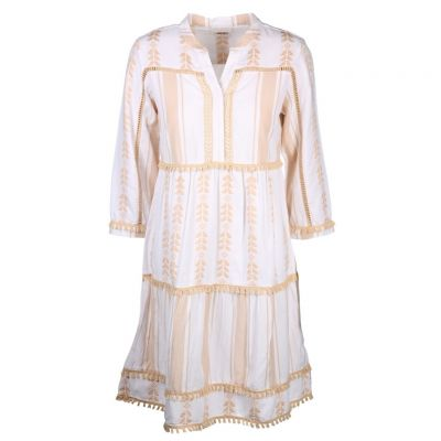 Rich & Royal - Bohaim Kleid in Beige - Dress with embroidery