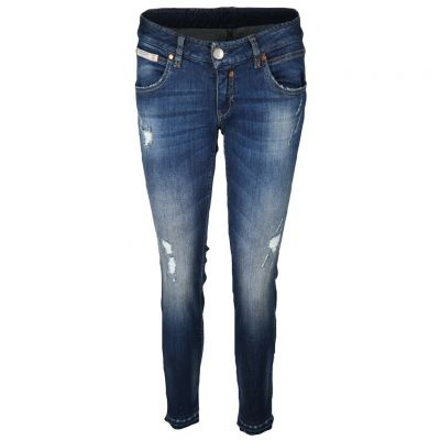 Herrlicher - Jeans im Used Look - Touch Cropped