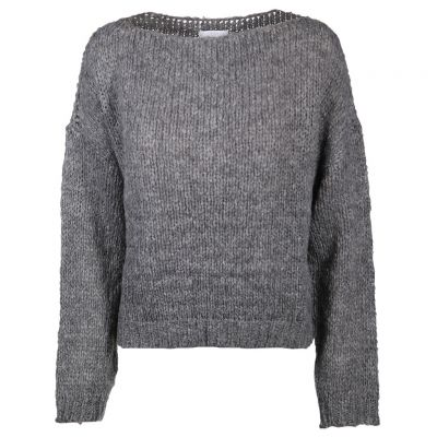 Just White - Pullover im Boxy Style