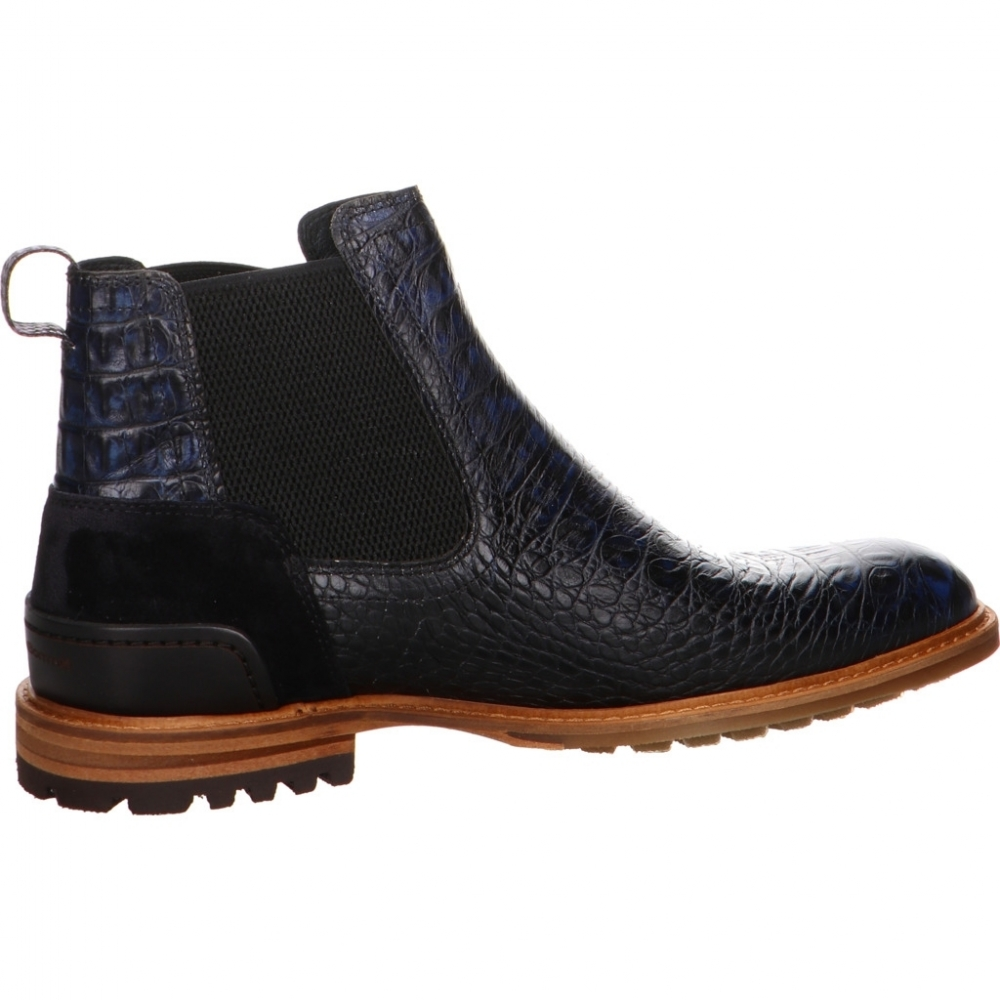new style 22e08 22ee4 Floris van Bommel - Chelsea Boot - Floris Casual DarkBlue Croco