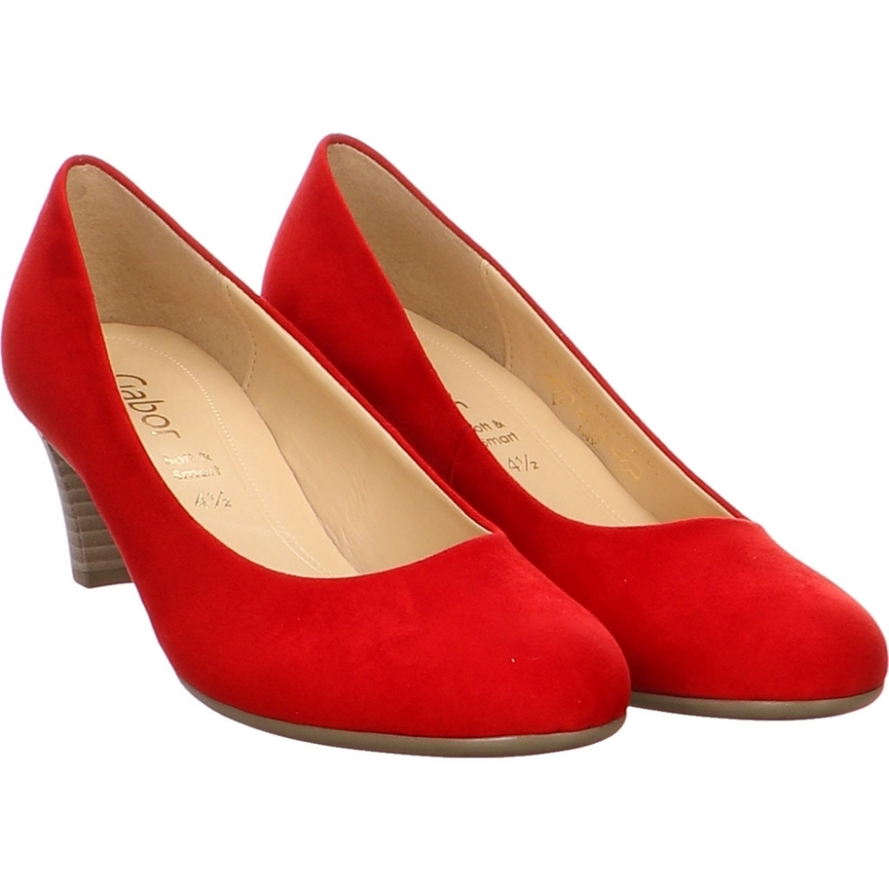 Gabor Pumps in Cherry Red