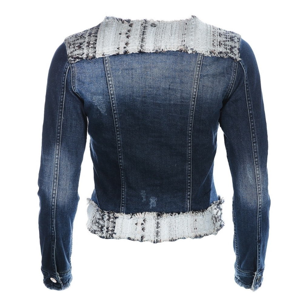 rich royal jeansjacke blau f r damen sale strandpassage