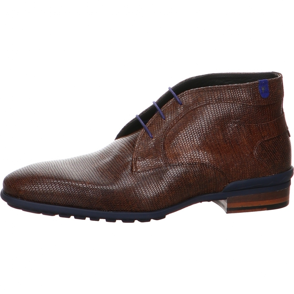 Floris van Bommel - Stiefelette Floris Casual DarkBrown Lizard
